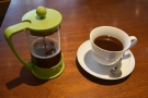 ... while on my recent visit, I had a  naturally-processed Brazilian, served in the cafetiere...