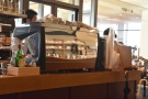 The Nuovo Simonelli espresso machine takes up the front of the counter...