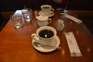 And here it is: my and Christopher's coffee, each served in a single cup.