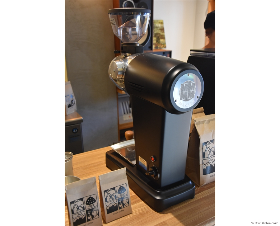 This Mazzer ZM grinder is for the filter coffees.