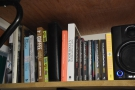 There's also a small library, to which I added a copy of the The Philosophy of Coffee...