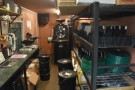 The view from just inside the door, with the roaster...