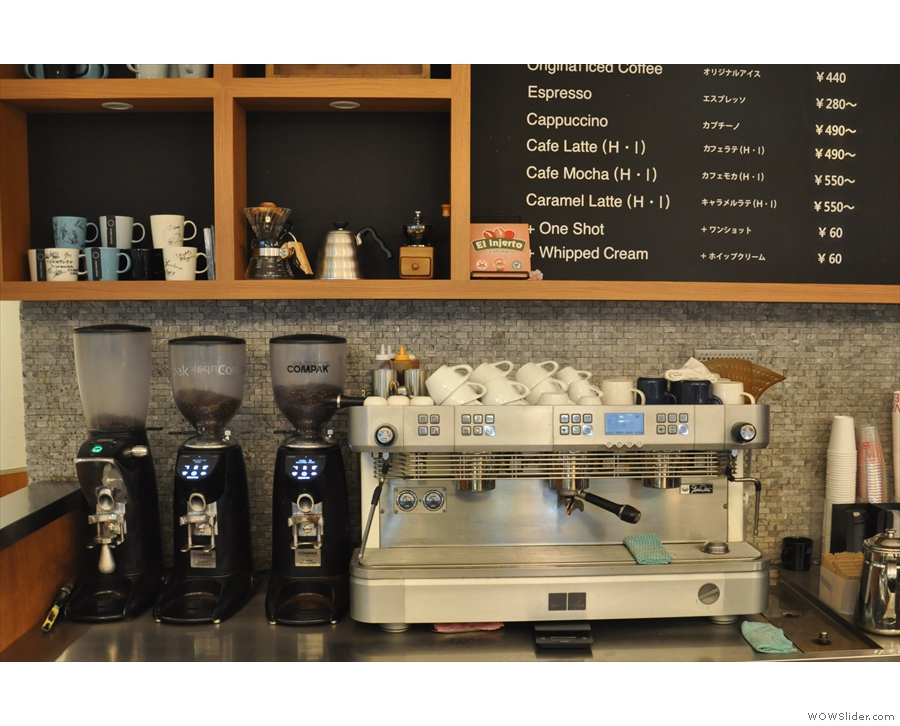 ... the counter, although there's now only one espresso grinder (ie no single-origin option).