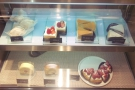 ... while the chiller cabinet has a selection of cakes down below.