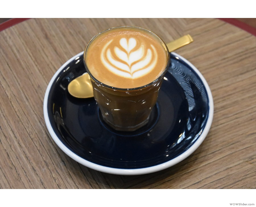 ... along with a piccolo made with the Captain Blend.