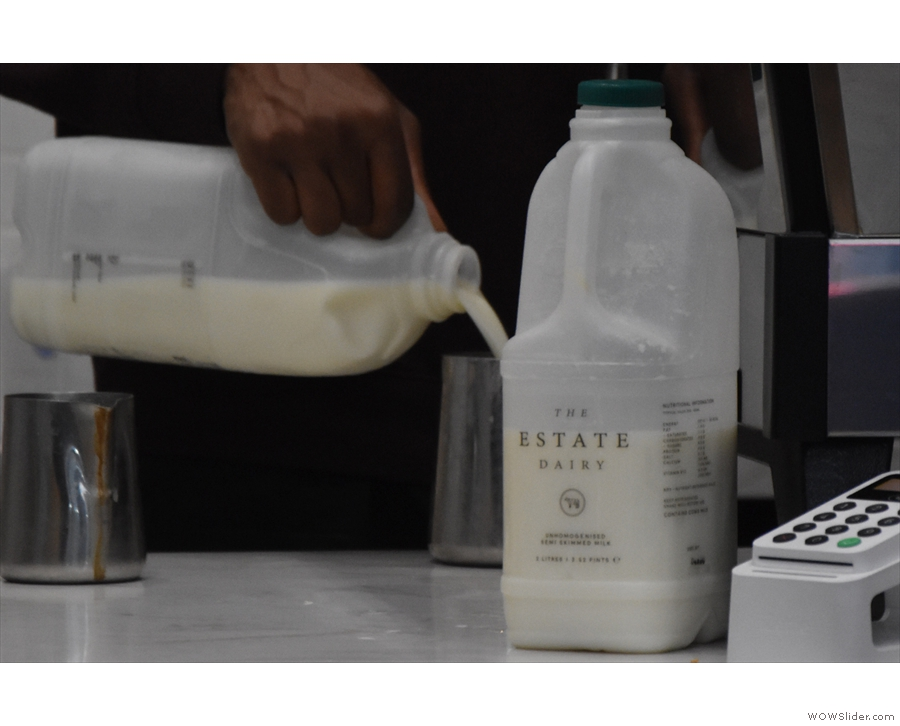 The milk, by the way, is from The Estate Diary.