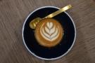 Impressive latte art in such a small glass...