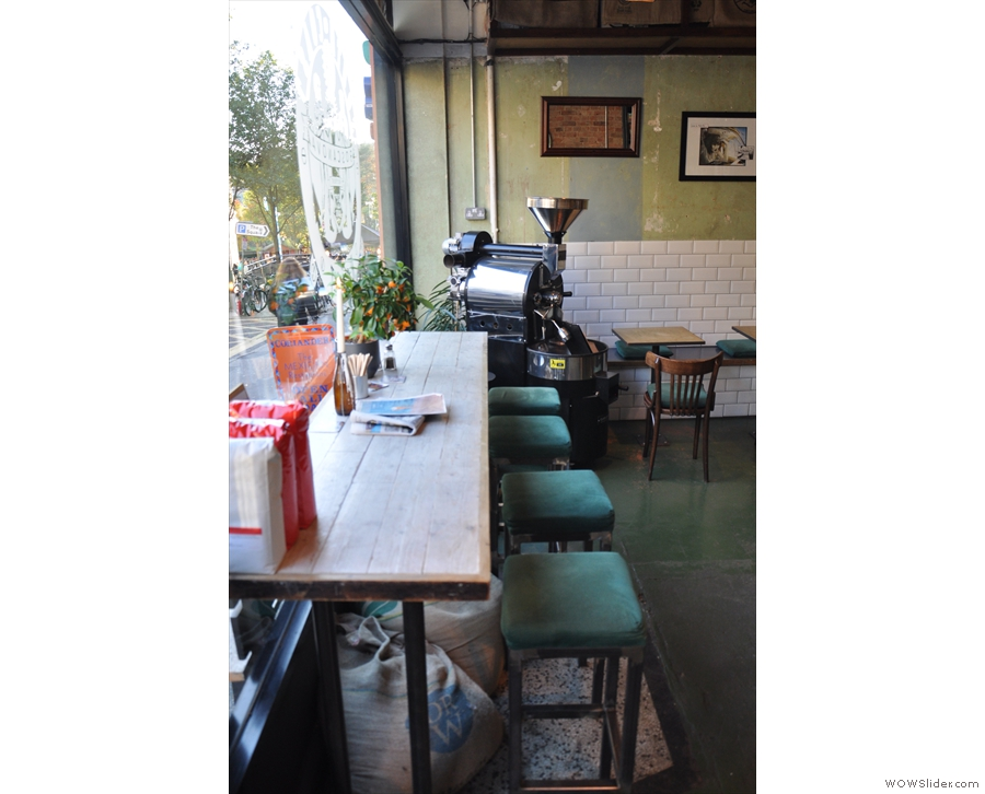 The window bar, with the roaster in the corner.