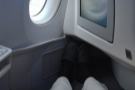 The seat extends under the casing of the seat in front, so I had plenty of legroom...