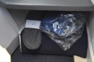 ... which held the bedding (and in-flight slippers) when I boarded the flight.
