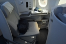 My seat, 2A, one of the better business class seats I've experienced.