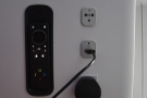 There's a USB socket and an international power socket, both easily accesible.