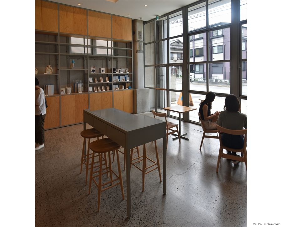 Another view of the central table from the other side of Blue Bottle.