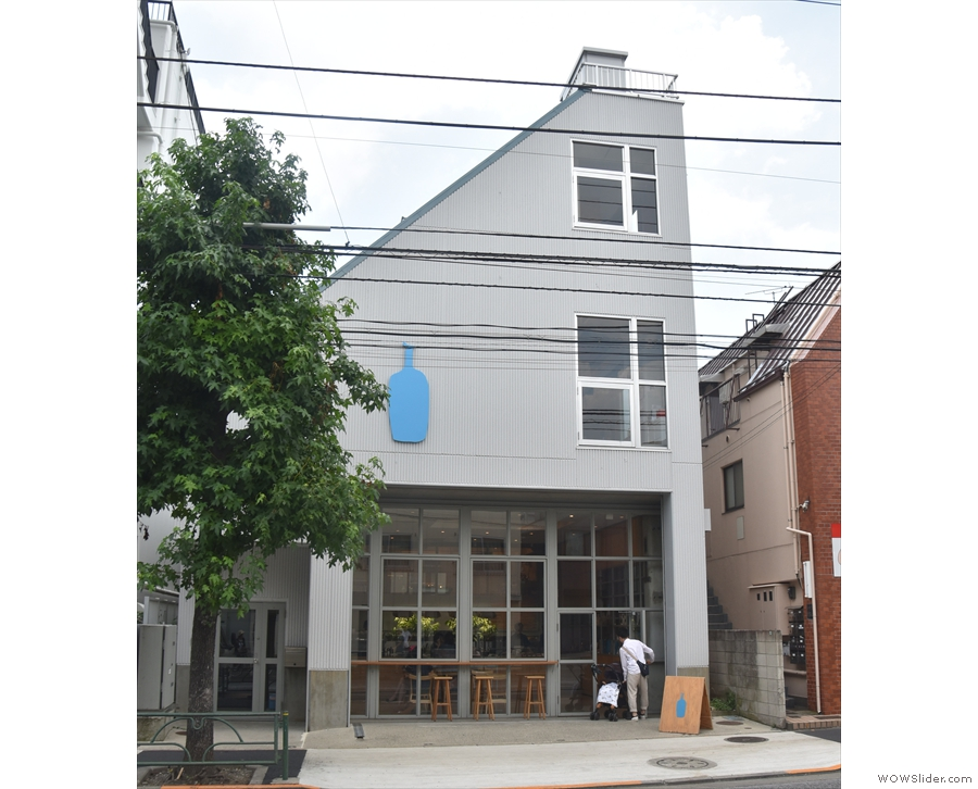 Blue Bottle Coffee in Nakameguro, occupying what was once a factory.