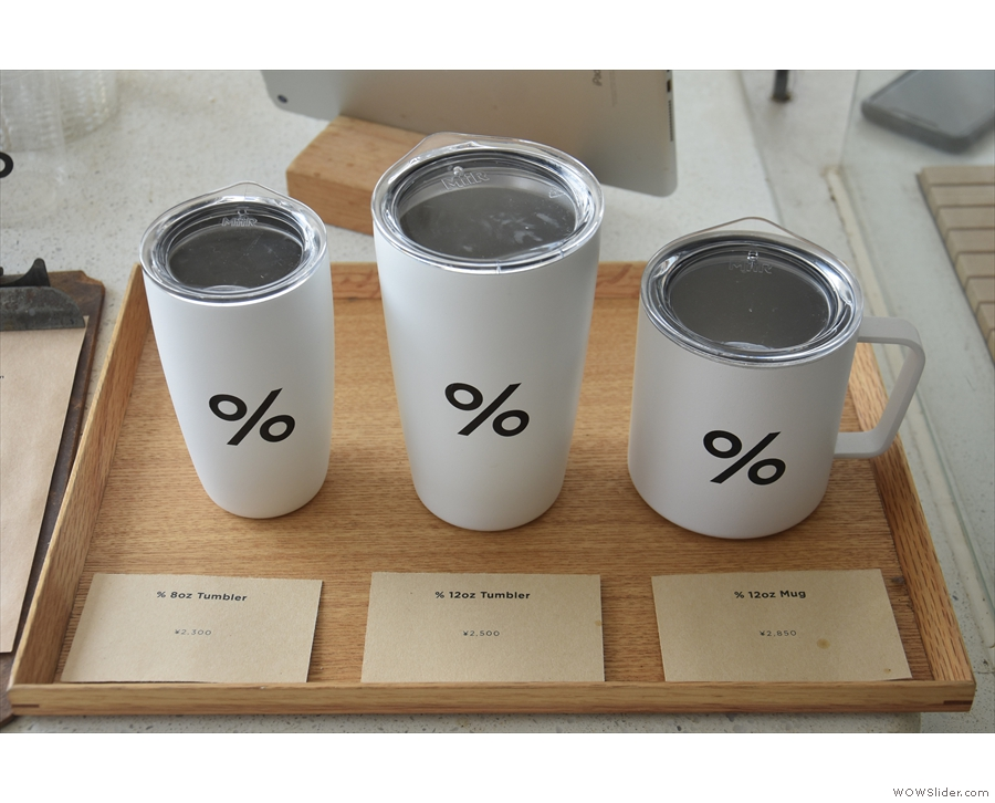 ... and branded cups...