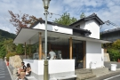 It's the Arashiyama branch of % Arabica, in this cute little building on the corner.