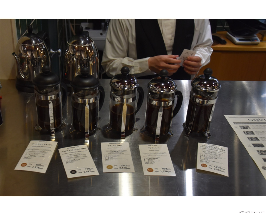 If you want to try before you buy, there are always samples of a selection of beans.