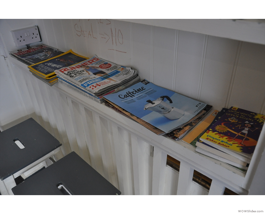 However, it's not just books. There are fine magazines here too!