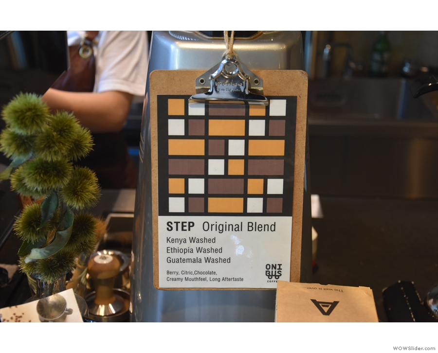 Throughout this, the Step blend was ever-present on espresso.