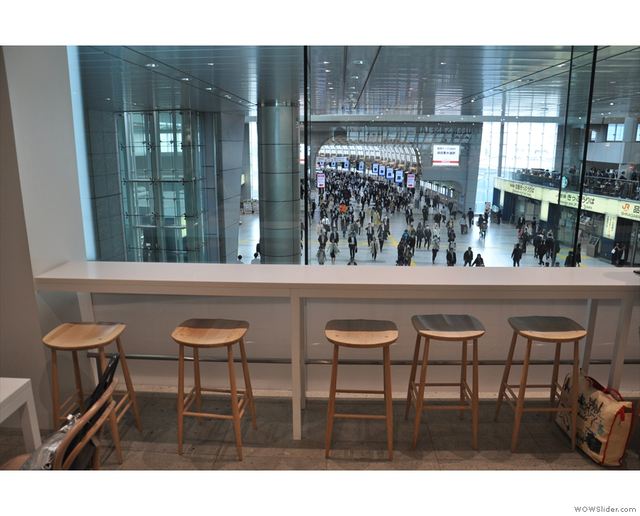 ... overlooking the concourse below, again seen in 2017. Back then, things were more...