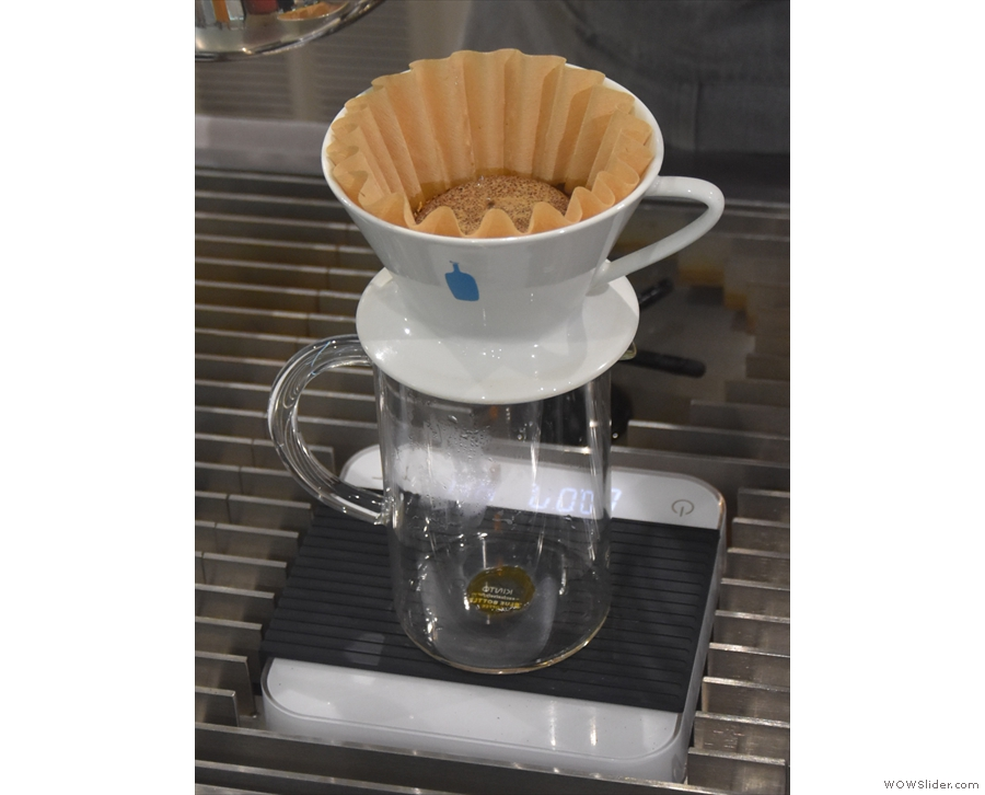 You need to ensure that the coffee is thoroughly wetted, which promotes the gases...