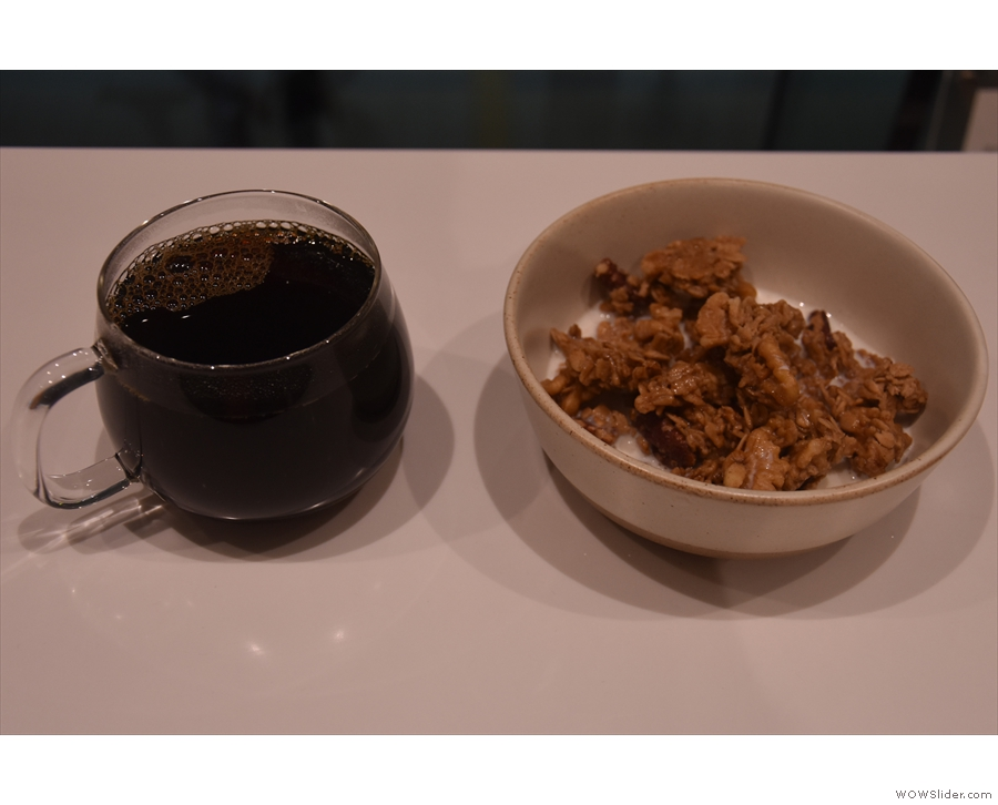 ... which you can see here with my bowl of granola.
