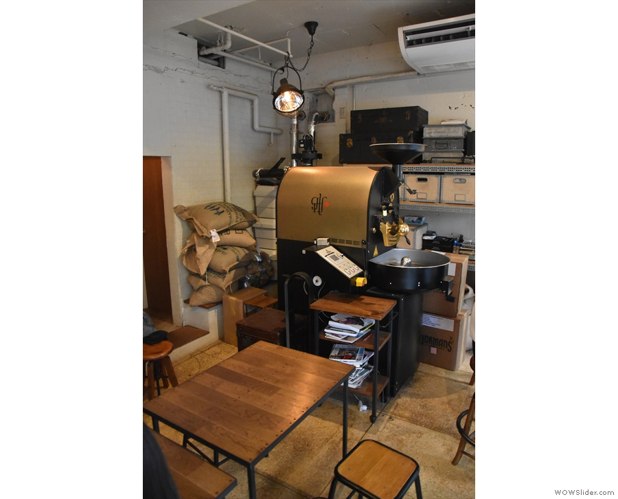 The remainder of the space on the right-hand side is the domain of the roaster...