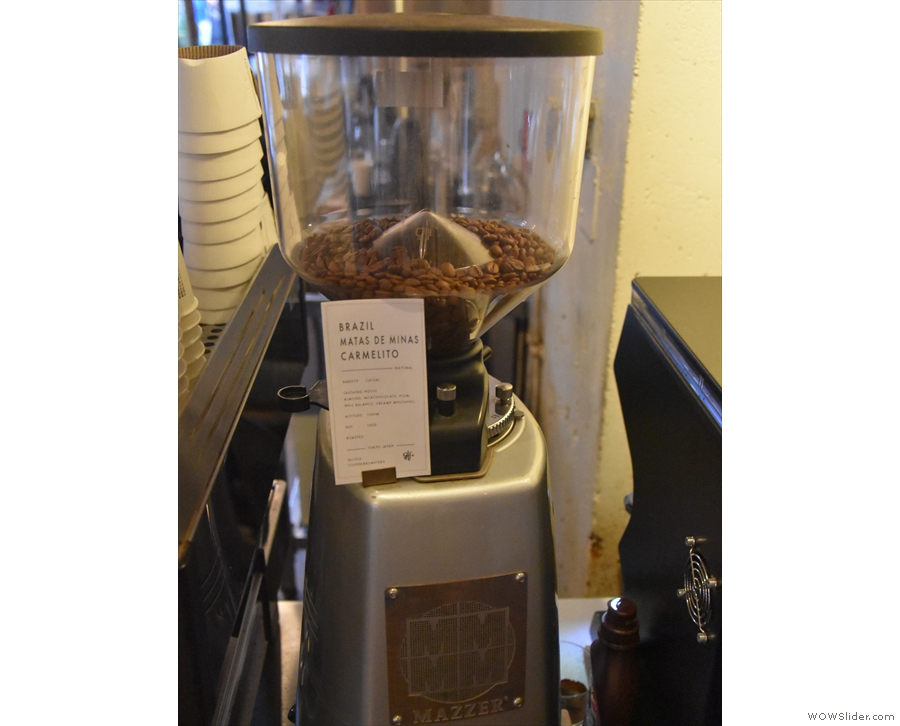 ... with a Brazilian on the Mazzer...