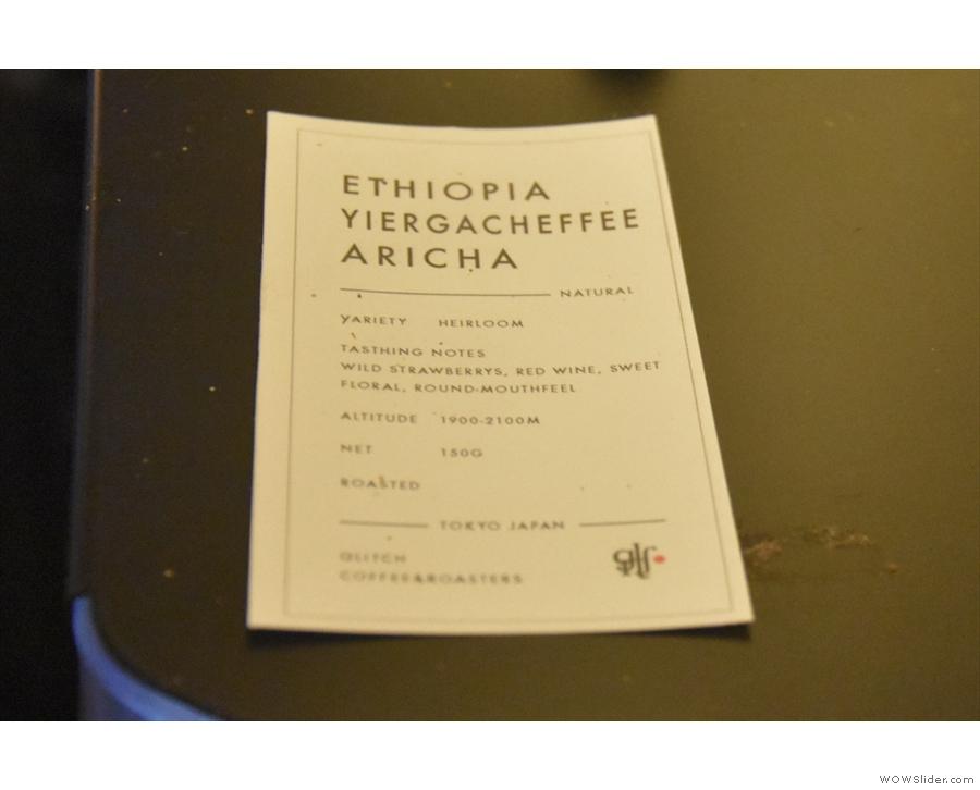 ... and an Ethiopian on the Mythos 1.