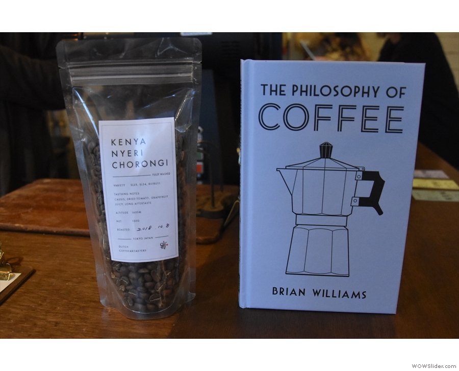 Finally, before leaving on my first visit, I swapped a copy of my book for a bag of coffee.