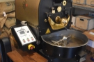 The roaster, a 5kg Probat, seen here from the front...