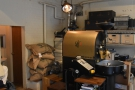 The coffee's roasted on-site, by the way, on this 5kg Probat on the other side of the room.