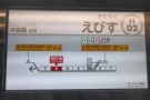 Travelling on Tokyo's Metro is easy, with lots of information (photo from a different line).