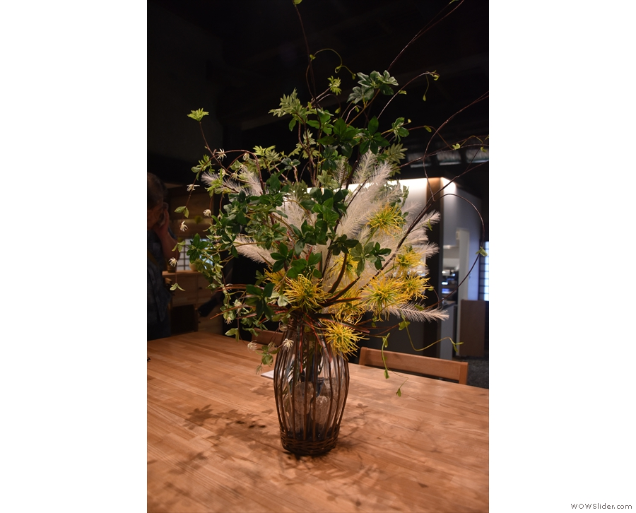 There are plenty of nice touches in Bread, Espresso &, including these flowers on the...