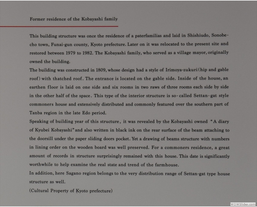 ... and some details on the history of the farmhouse.