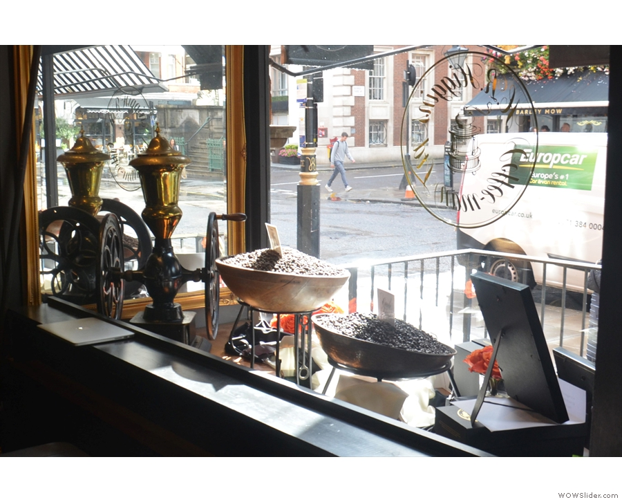 ... and which provides an excellent view of the window display from the inside!