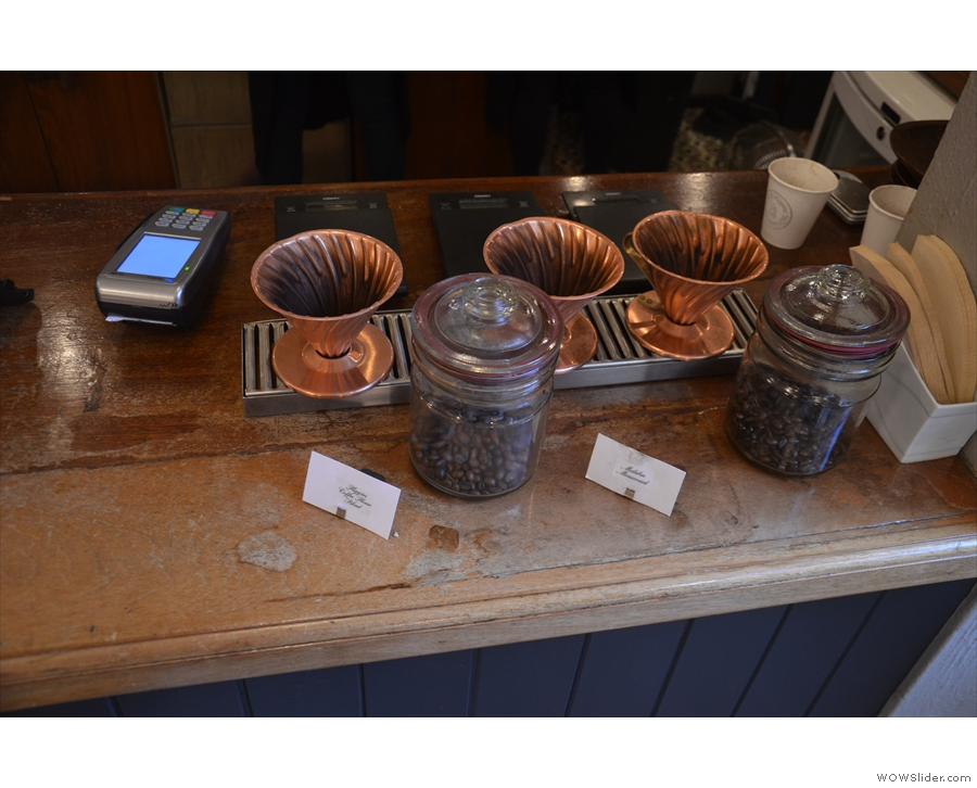 ... but I was drawn by the pour-over. There are two regular choices...