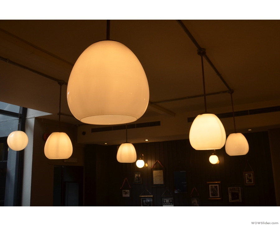 Obligatory light-fitting shot. These hang in the coffee room in the basement...