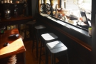 Inside, and there's a window-bar, which can be used as overspill seating...