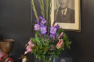 Other nice touches include these flowers on the counter upstairs.