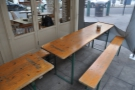 The rest of the outside seating (also on Hildreth Street).