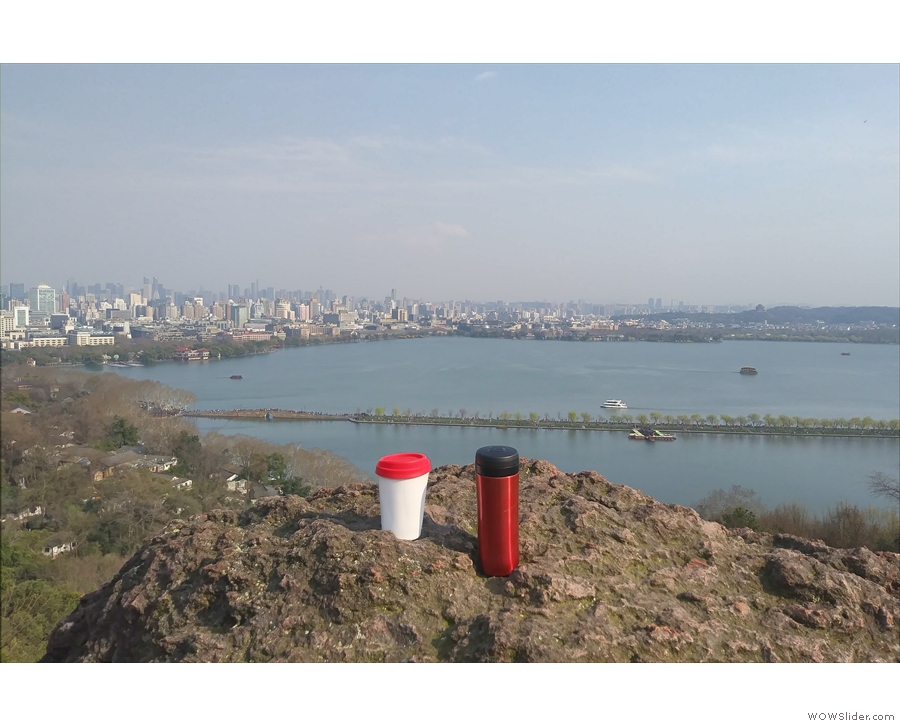 I was back in China in March, taking my coffee to enjoy the views of the lake in Hangzhou.