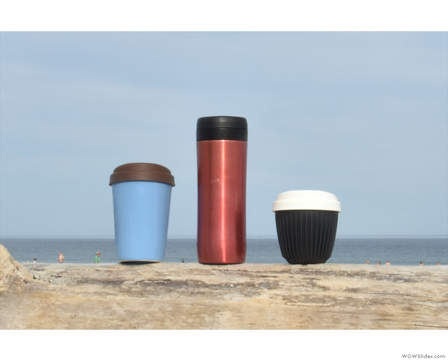 In August, I was overseas again, my cofee and I visiting the beach in Maine, USA.