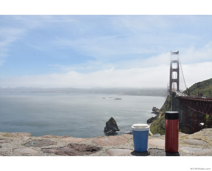 May saw me back in the US, visiting the Golden Gate Bridge with my coffee.