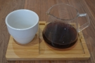 I followed that up with the filter coffee, served in a carafe with a cup on the side...