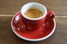 A lovely guest espresso (a Peruvian single-origin) from Colonna Coffee, from my visit...
