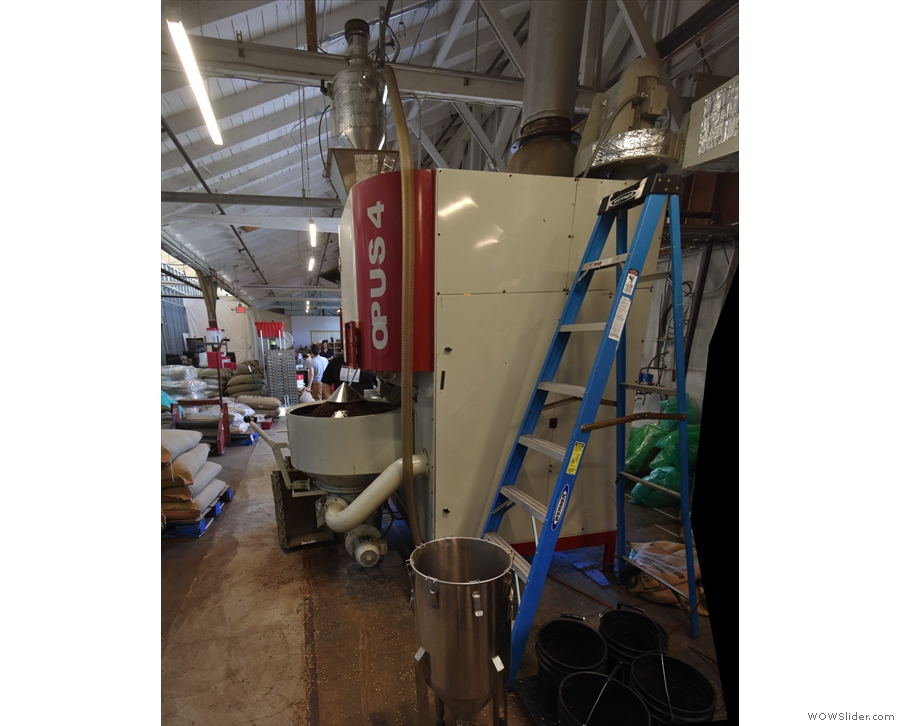 The remainder of the roastery is given over to this giant, the Opus 4 roaster.