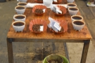 All 11 samples are now ready for tasting. They are left to cool for a few minutes more...