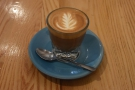 I paired that with an excellent cortado, made with the house-blend...