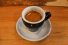 I finished off my viist (and my time in Montréal) with a shot of the house espresso...